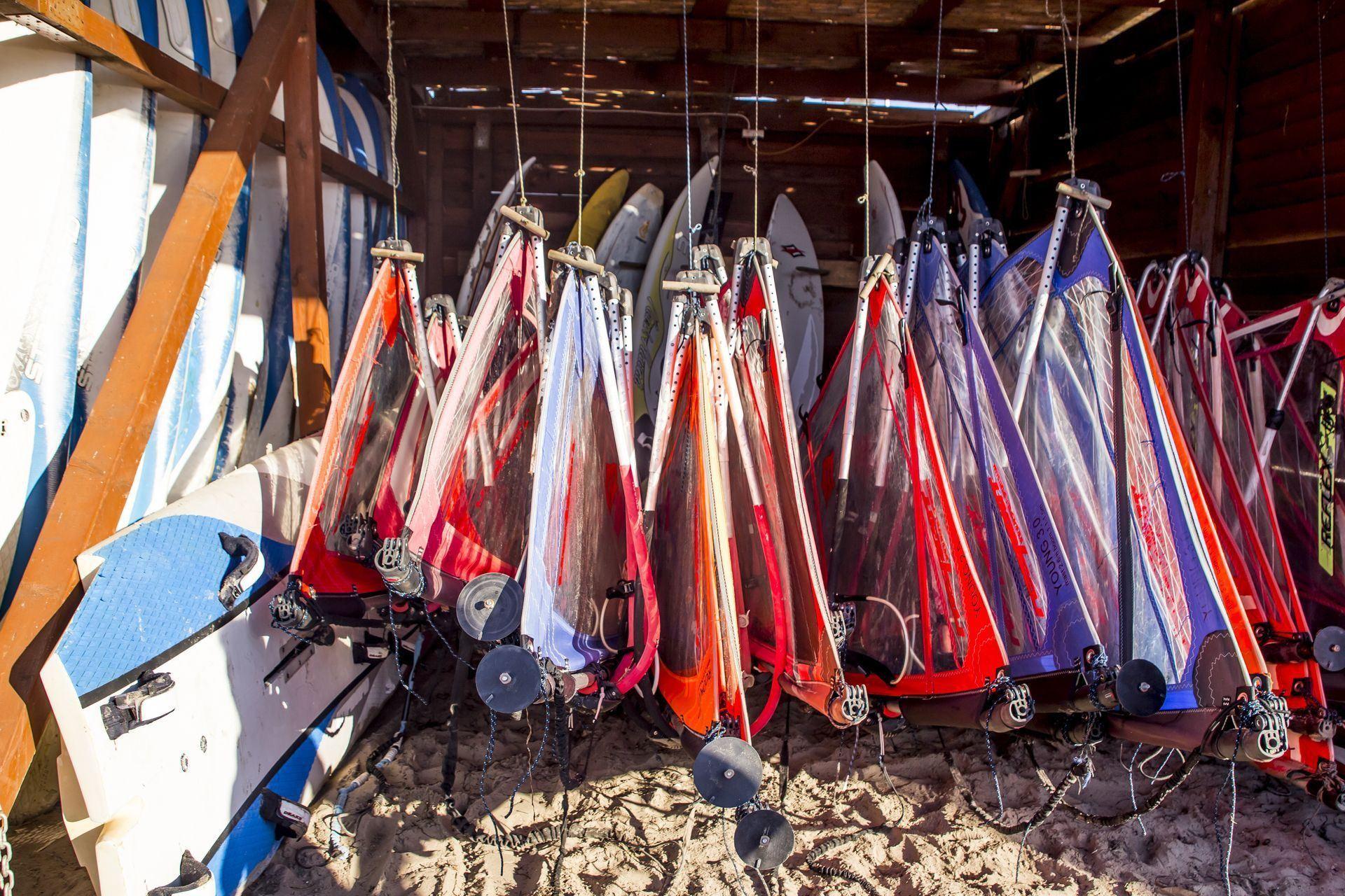Przechowalnia sprzętu windsurfingowego